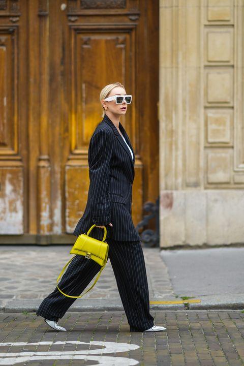 street style paris fashion week  haute couture fall winter 2021 2022 day three justyna czerniak