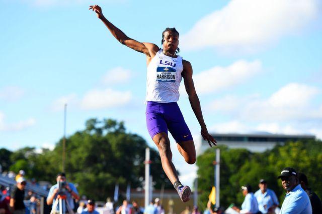 juvaughn harrison compite en campeonatos universitarios de estados unidos al aire libre
