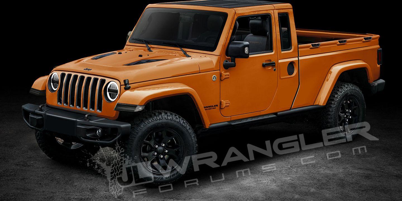 2019 Jeep Wrangler Pickup Rendered