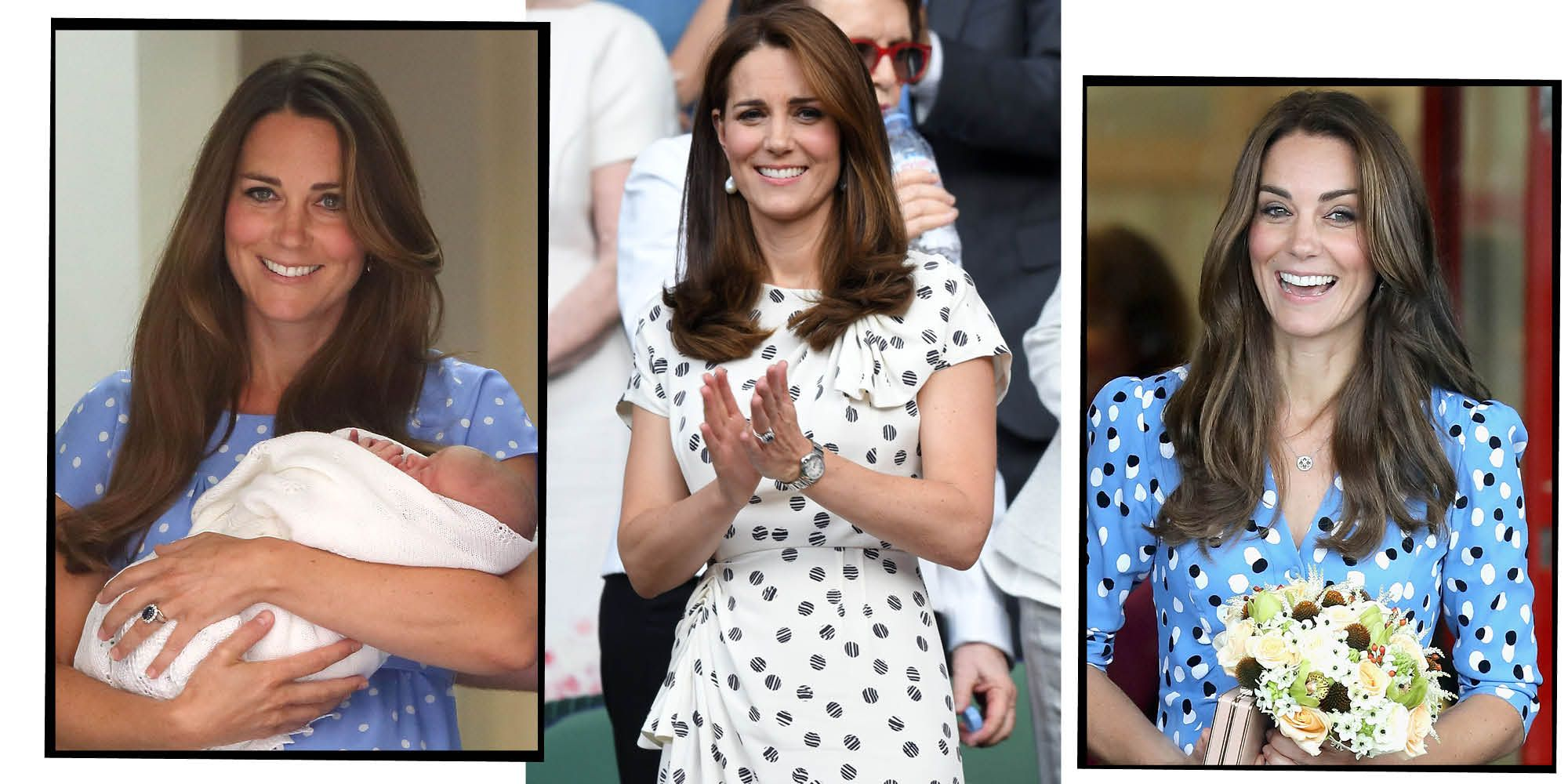 Kate Middleton in polka dots