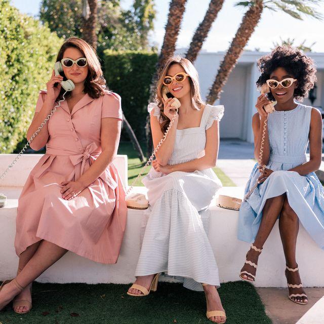 White, Pink, Clothing, Fashion, Summer, Footwear, Dress, Fun, Leg, Friendship,