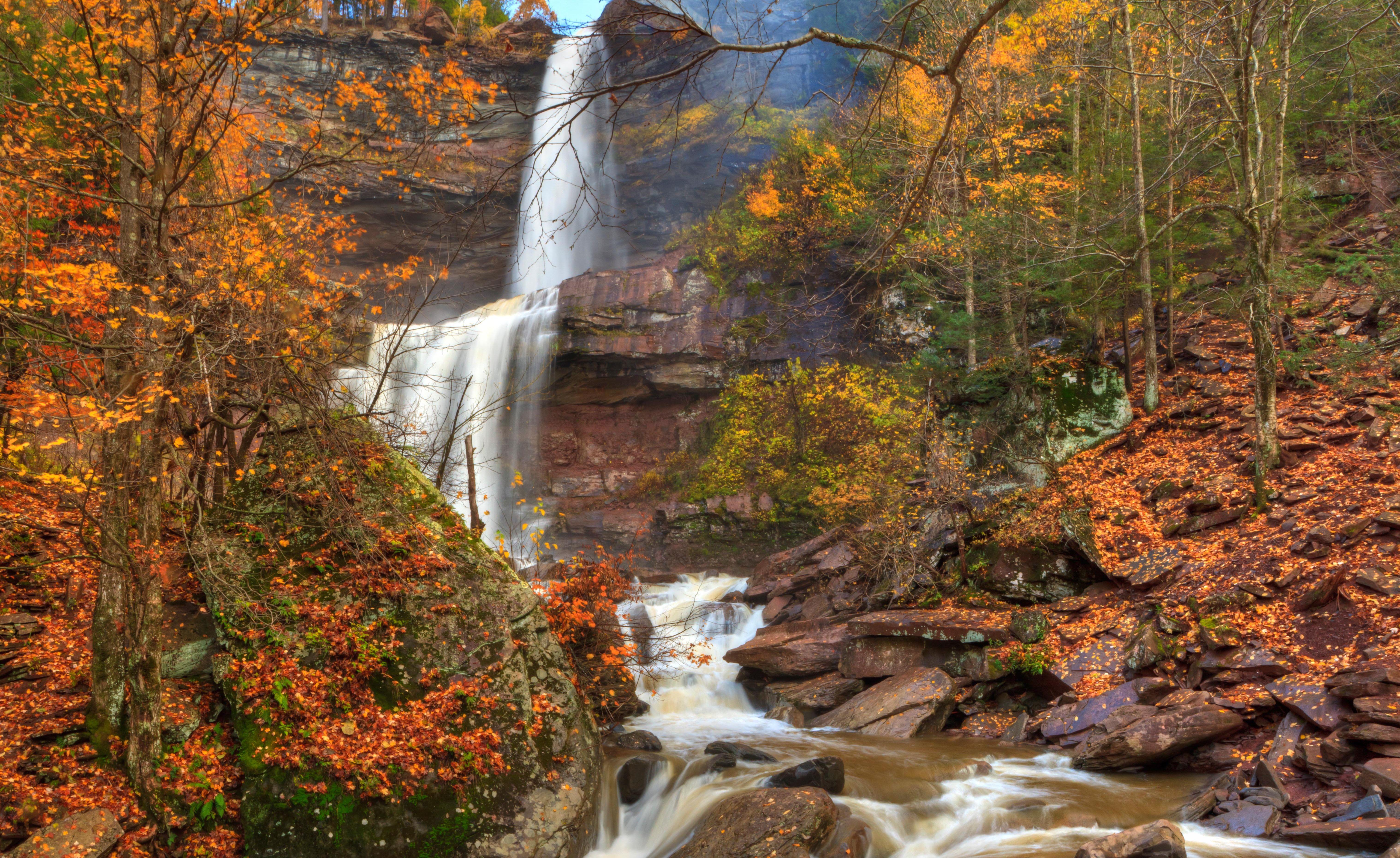 Katterskill Falls Autumn Panorama HDR