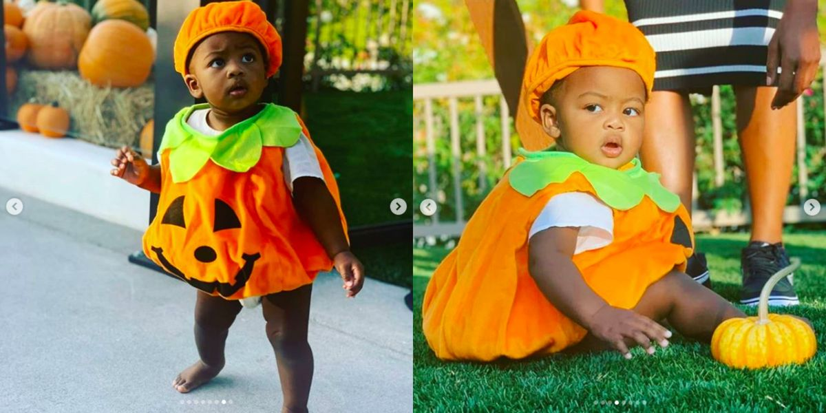 Kaavia James Is Celebrating Halloween Early in an Adorable Pumpkin Costume
