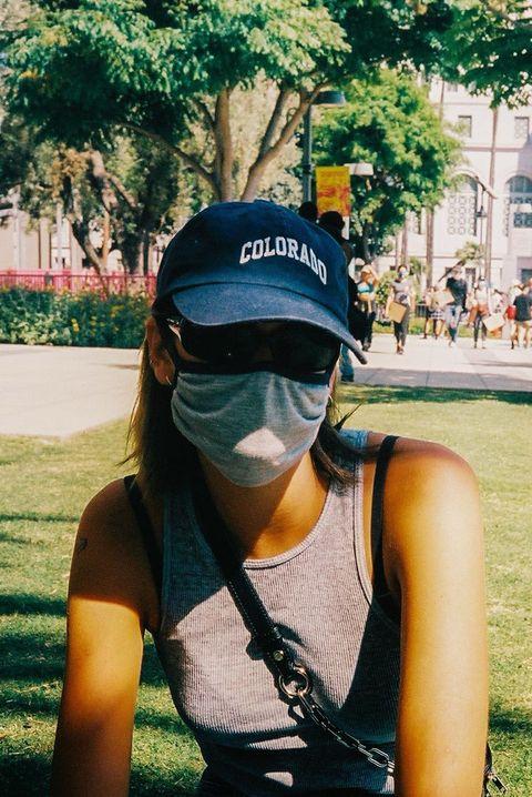 kaia gerber, celebrity mask style