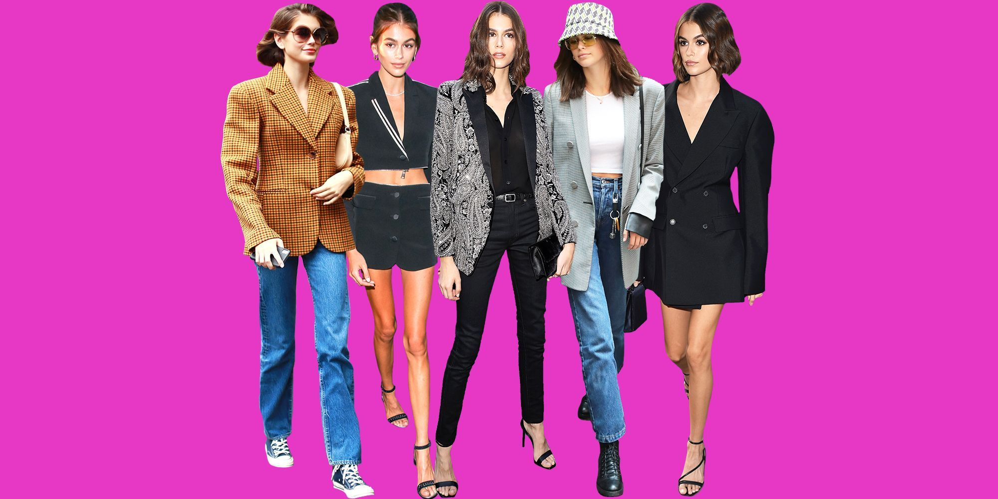 How Is Kaia Gerber So Damn Good at Wearing Blazers?