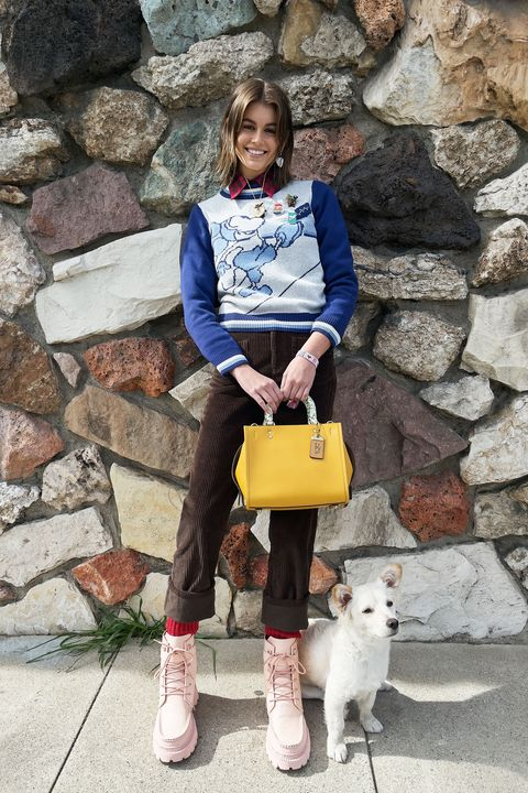 coach forever lookbook fall winter 2021 kaia gerber