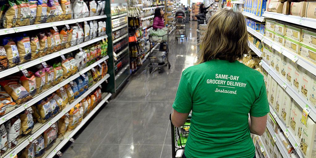 Instacart Is Providing Its Grocery Shoppers With Safety Kits Full Of Face Masks, Hand Sanitizer, And Thermometers