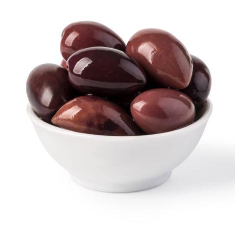 Bowl of marinated kalamata olives