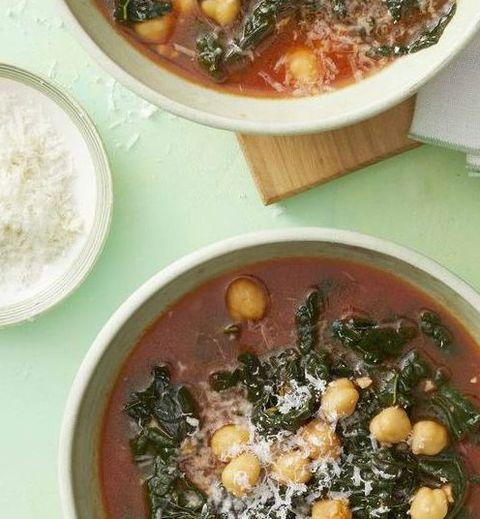 gluten free dinner - Kale and Chickpea Soup #dinner #recipe #glutenfree #gf #whole30 #healthydinner #dairyfree
