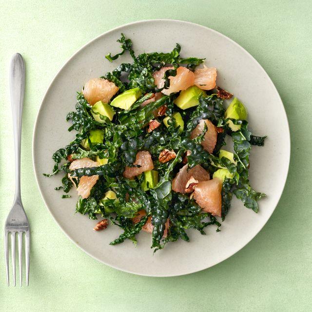 kale, avocado, and grapefruit salad recipe vegan