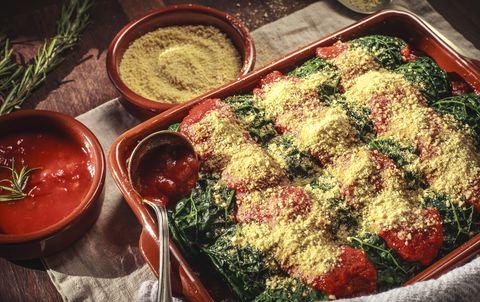 Canelones de kale