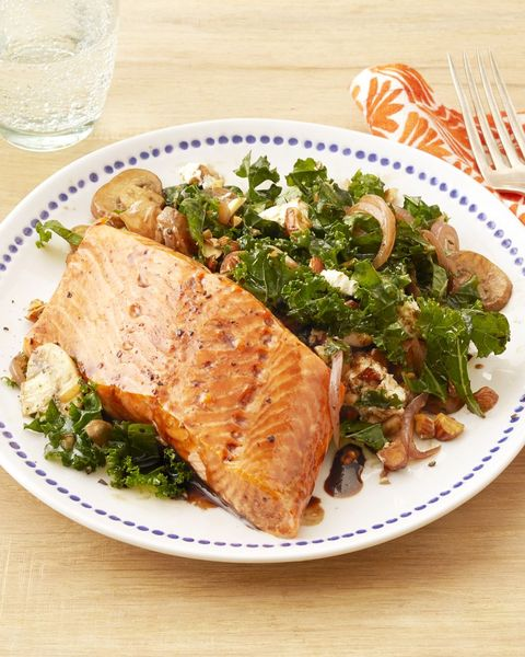healthy dinner ideas kale salmon