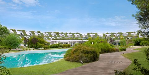 Property, Resort, Residential area, Natural landscape, Real estate, Building, Grass, House, Condominium, Home,