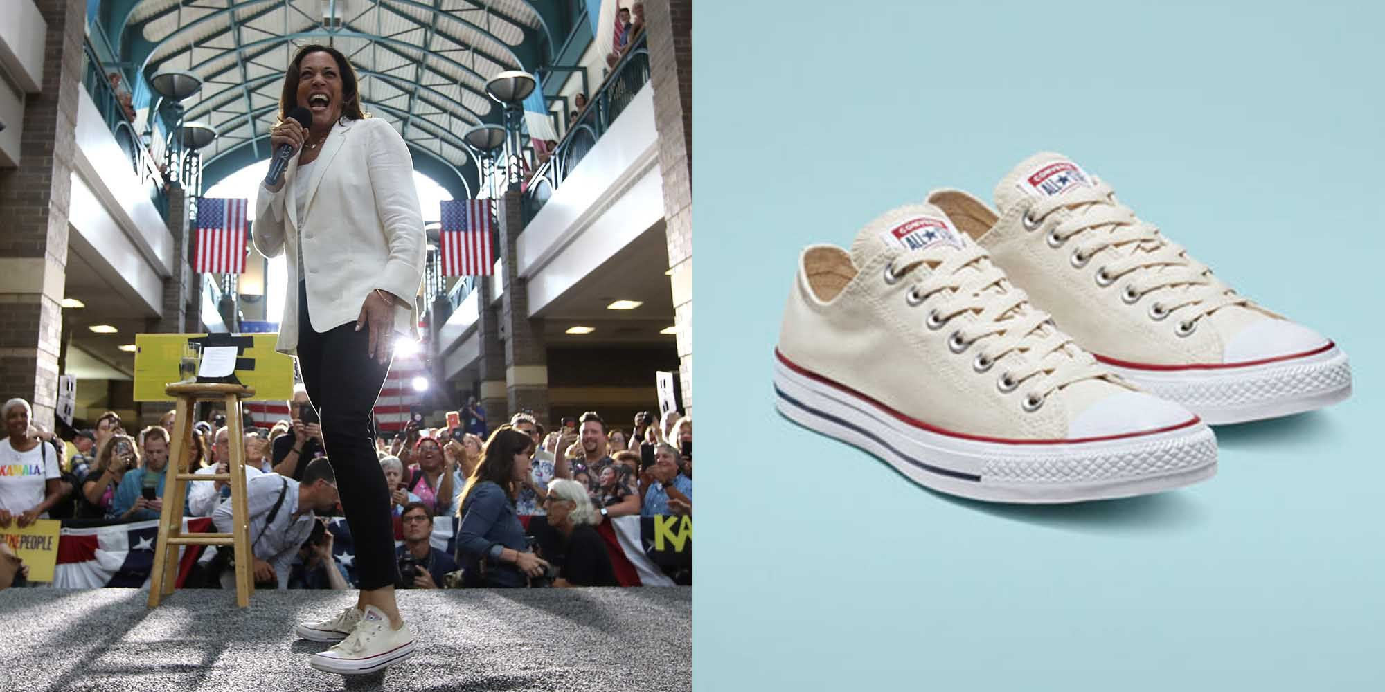 atlántico mineral Ceder el paso  Kamala Harris Loves Converse Sneakers—Here's Why That Matters