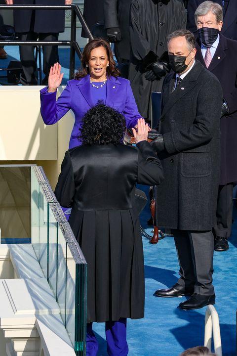 Kamala Harris Sworn In as Vice President by Sonia Sotomayor