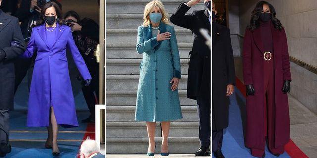 kamala harris, jill biden, and michelle obama at the 2021 inauguration
