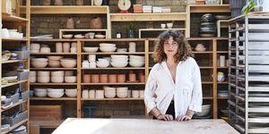 Ana Kerin, aka Kana, in her studio