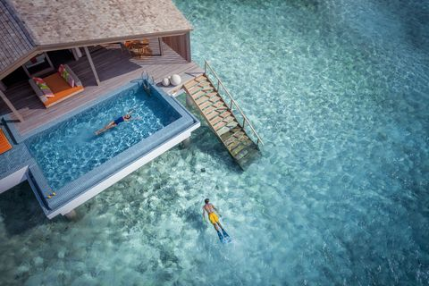 Blue, Water, Swimming pool, Architecture, Photography, Leisure, Games,