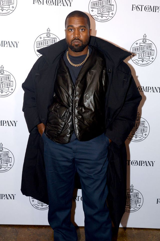 fast company innovation festival day 3 arrivals kanye west red carpet yeezy