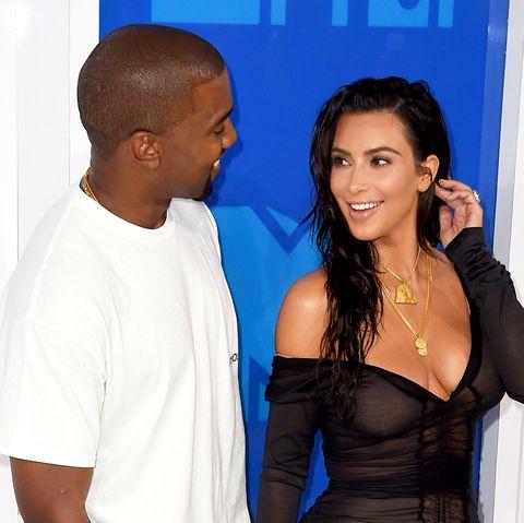 Kanye West and Kim Kardashian