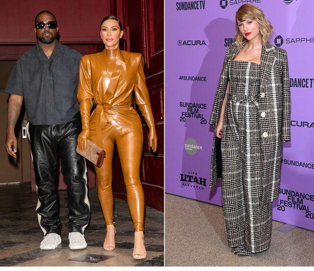 Kanye West, Kim Kardashian e Taylor Swift