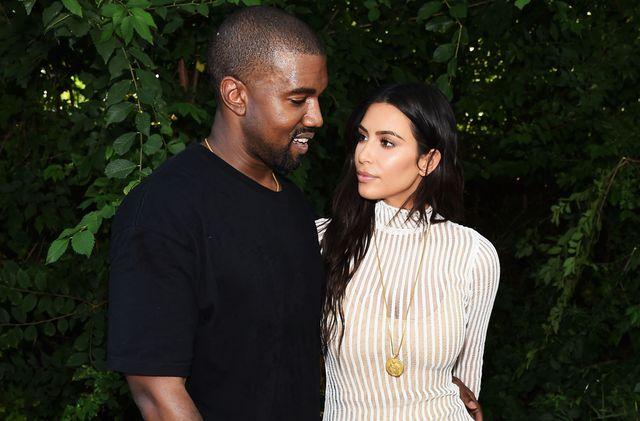 kanye west y kim kardashian, en una foto de archivo