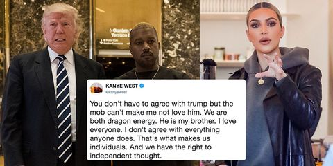 66967a3272c Kim Kardashian Confronts Kanye West About Trump Support After Celebs  Unfollow Him in Droves