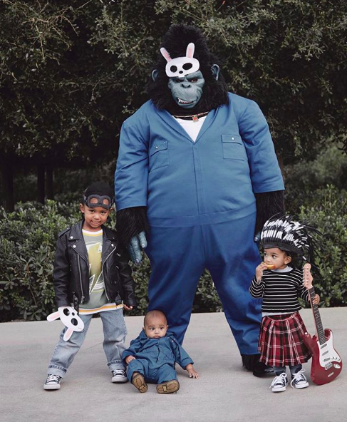 Kim Kardashian Just Shared Pics of Her Family's THIRD Group Halloween Costume