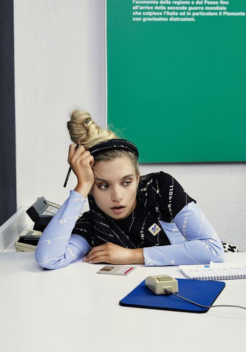 Blue, Learning, Student, Homework, Sitting, Job,