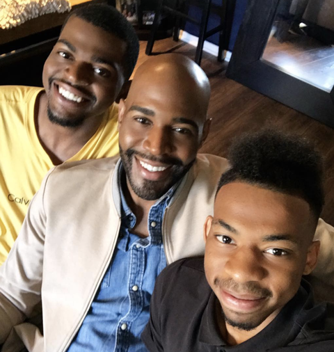 karamo brown and his two sons