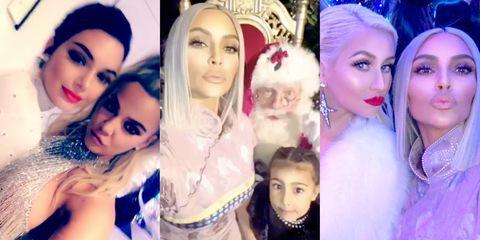 snapchat per kardashian tradition - Kardashians Christmas Photos
