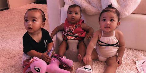 490ba17c82 Chicago West, Stormi Webster & True Thompson Look Like Sisters in Kim  Kardashian Instagram