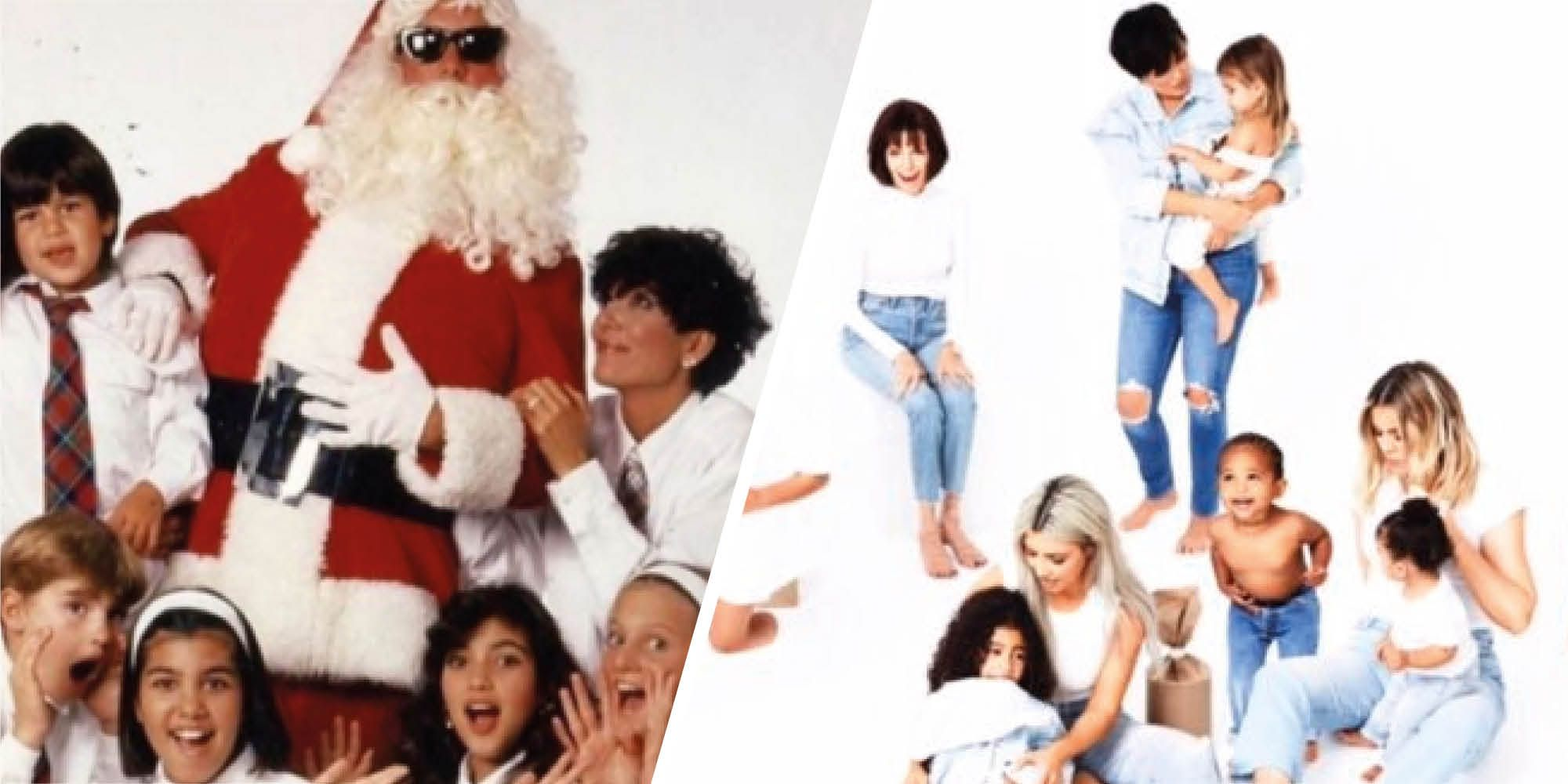 Kardashian Christmas cards from years gone by