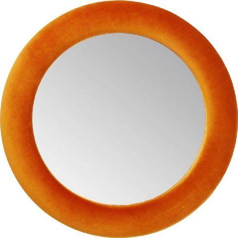 kare design spiegel velvet orange