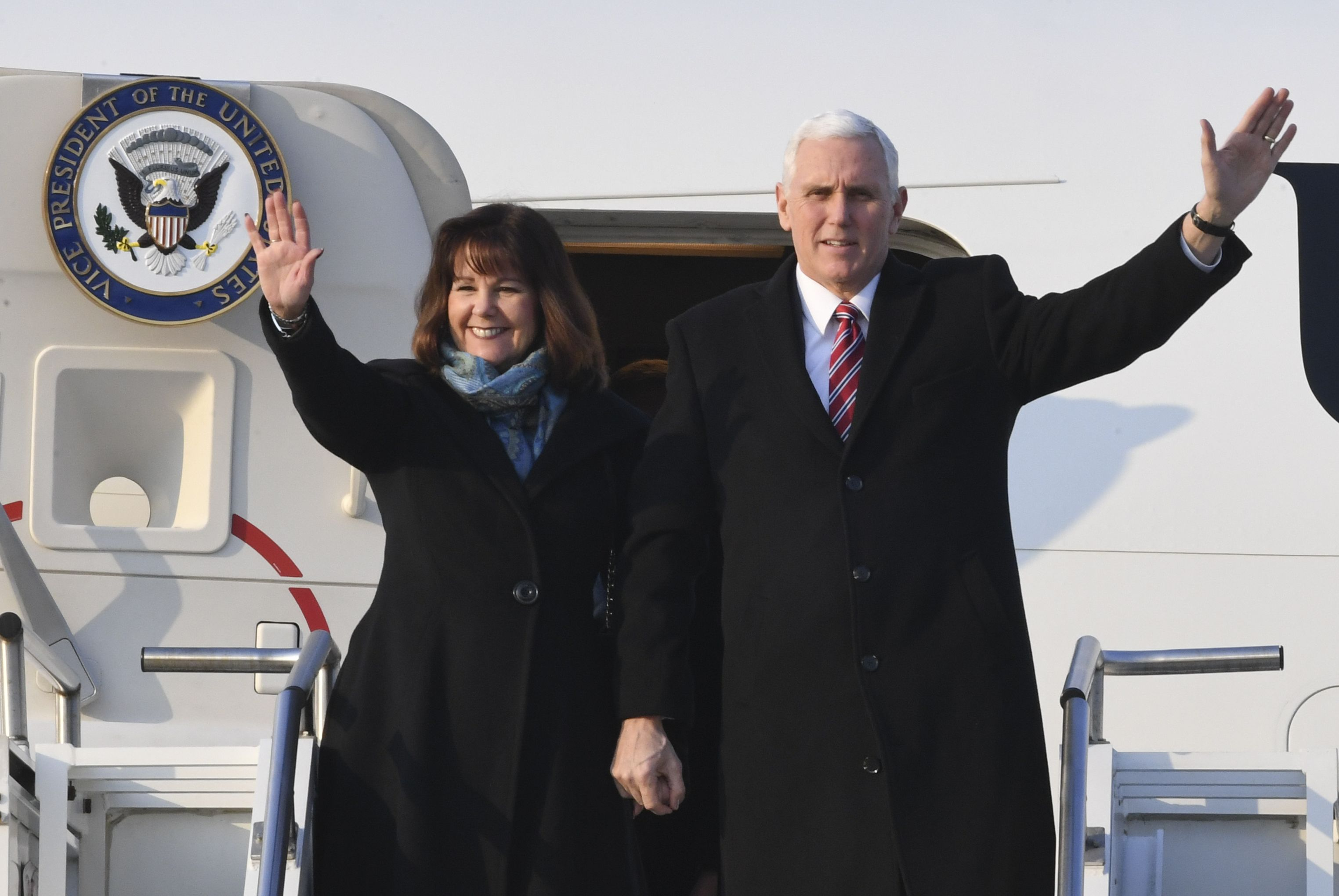 Karen and Mike Pence represent the U.S. at the Olympics in South Korea.
