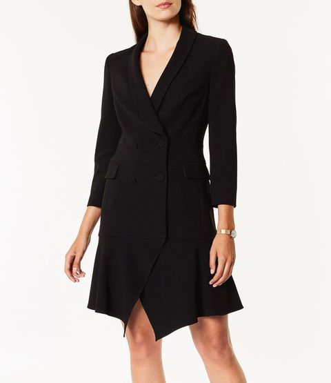 black tux dress high street