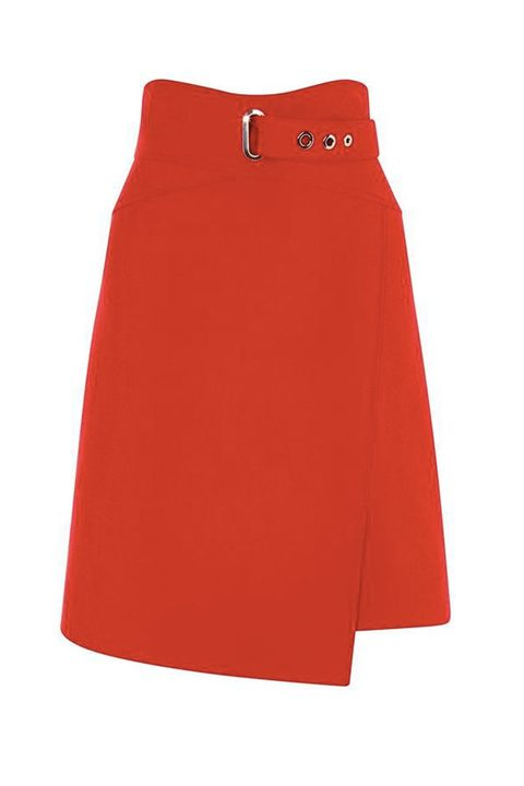 red a-line skirts