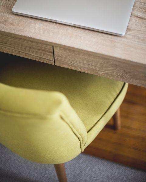 Furniture, Table, Yellow, Room, Coffee table, Interior design, Desk,