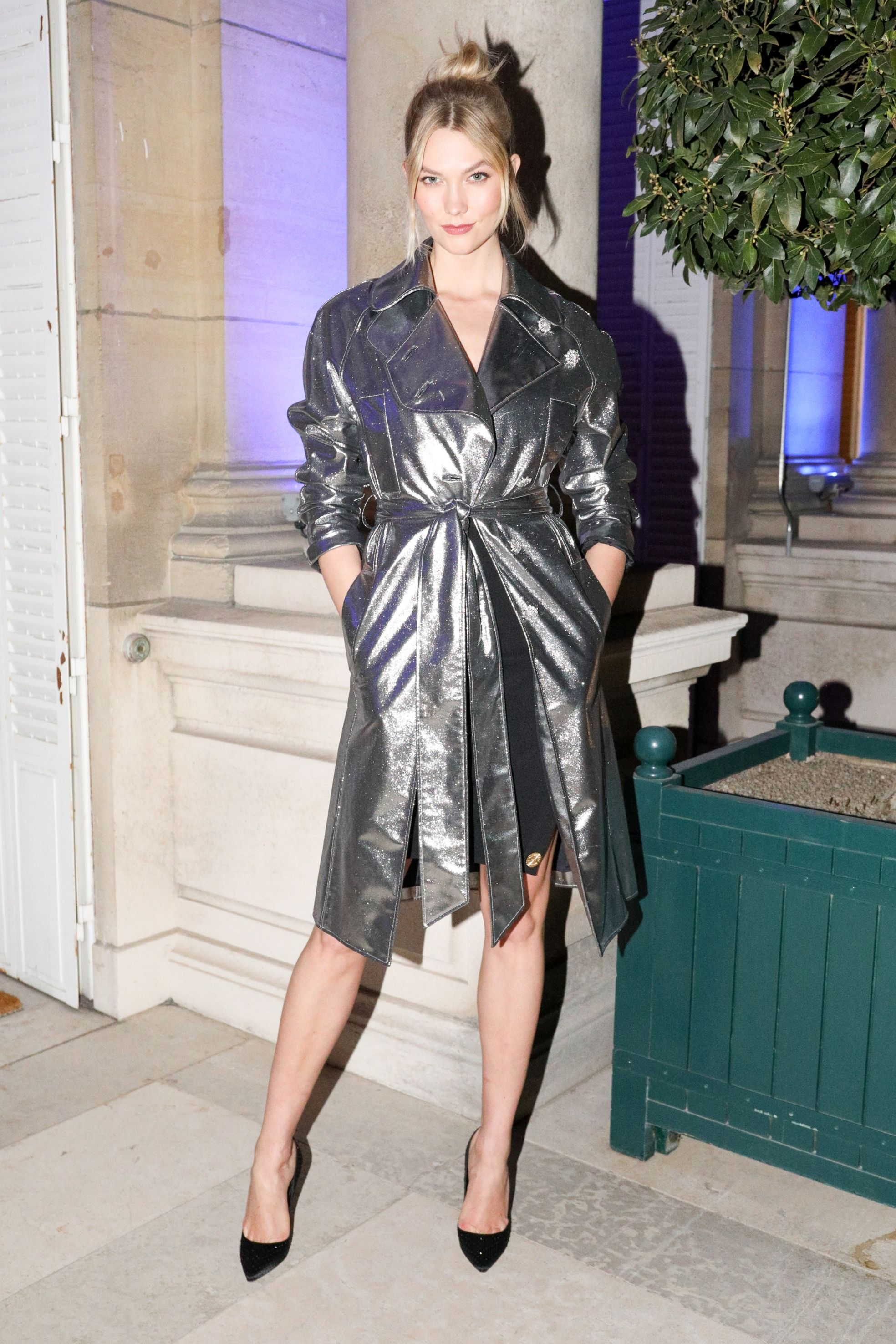 Karlie Kloss Karlie Kloss attends the Jamie D. McCourt and Diane von Furstenberg hosted cocktail reception in celebration of the forthcoming opening of the Statue of Liberty Museum on February 26 in Paris.