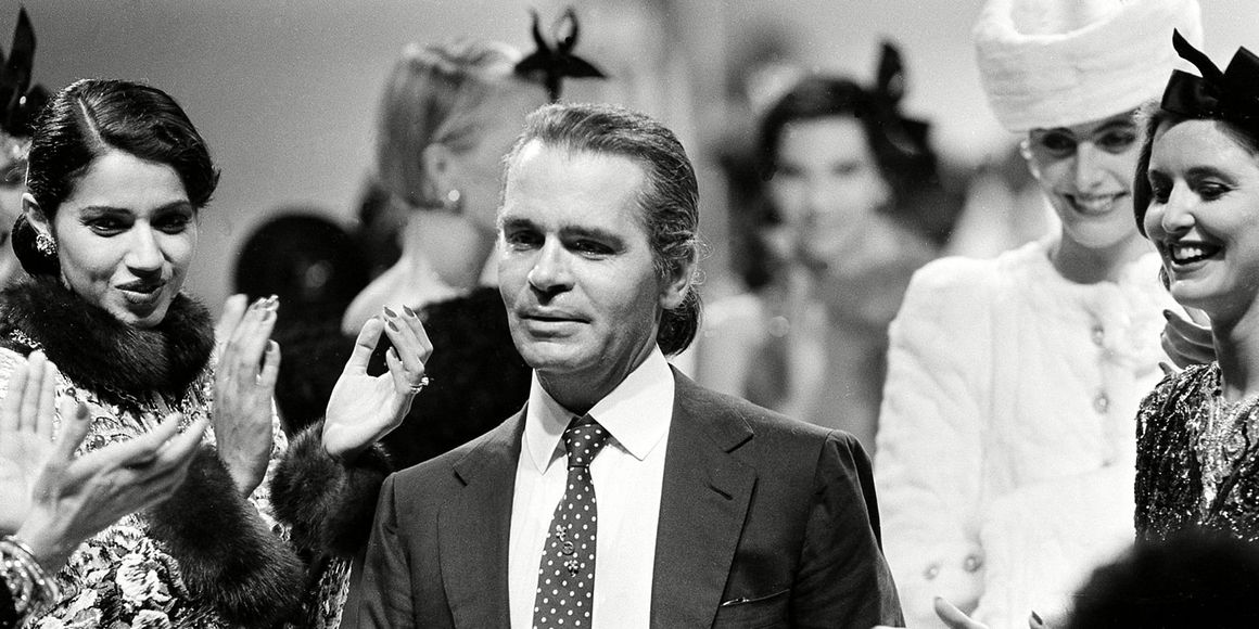 Vintage Karl Lagerfeld Photos - Vintage Photos of Karl Lagerfeld Pre- and  Post-Ponytail