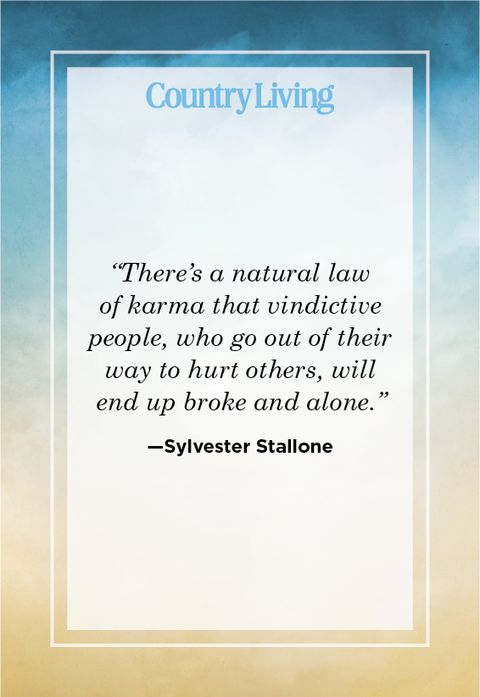 Inspiring quote about karma by Sylvester Stallone