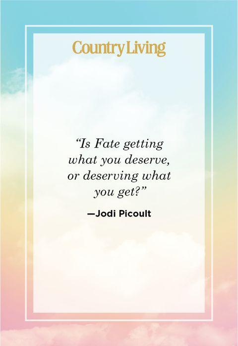 Inspiring Karma Quote by Jodi Picoult