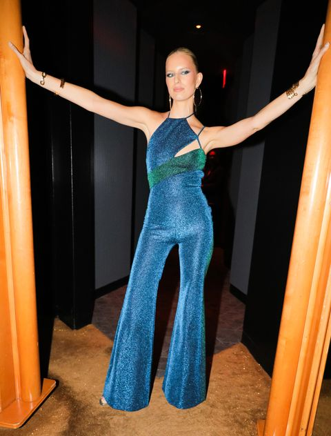 Clothing, Dress, Blue, Shoulder, Fashion, Gown, Electric blue, Haute couture, Formal wear, Fashion design,