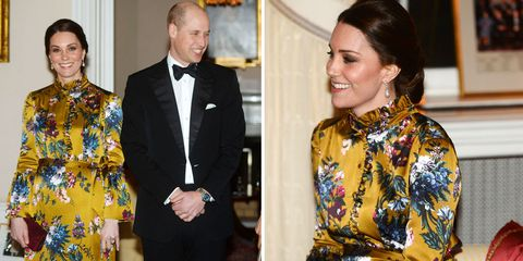 Kate Middleton wore a floral ball gown to meet the Swedish royals 73f17cf23