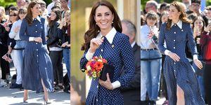 凱特王妃 圓點洋裝穿搭