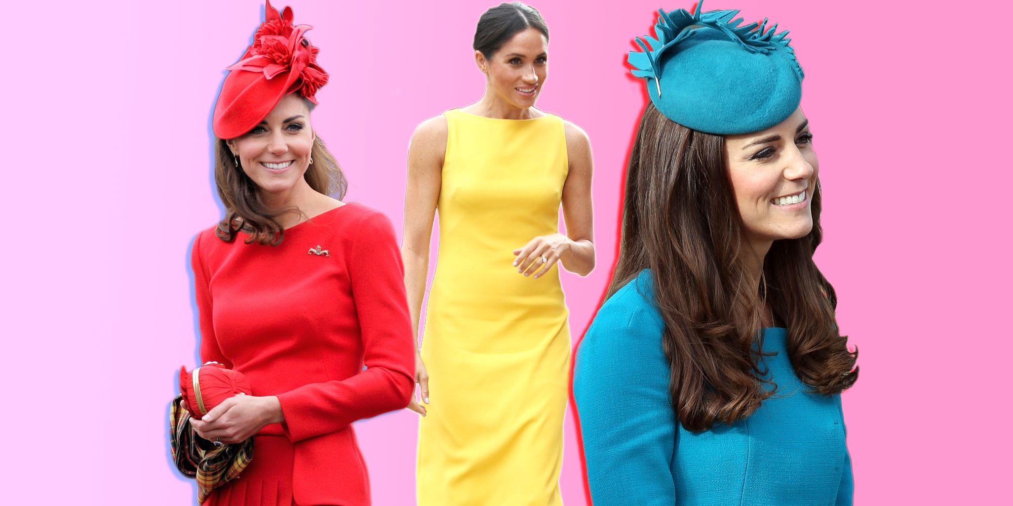 Kate Middleton and Meghan Markle colour