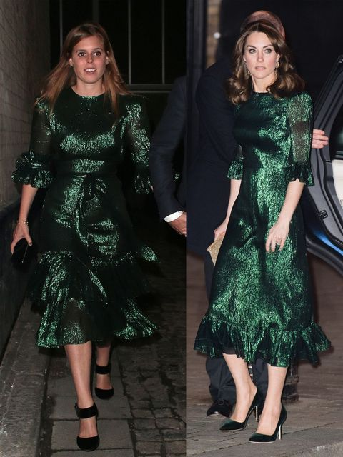kate beatrice green dress
