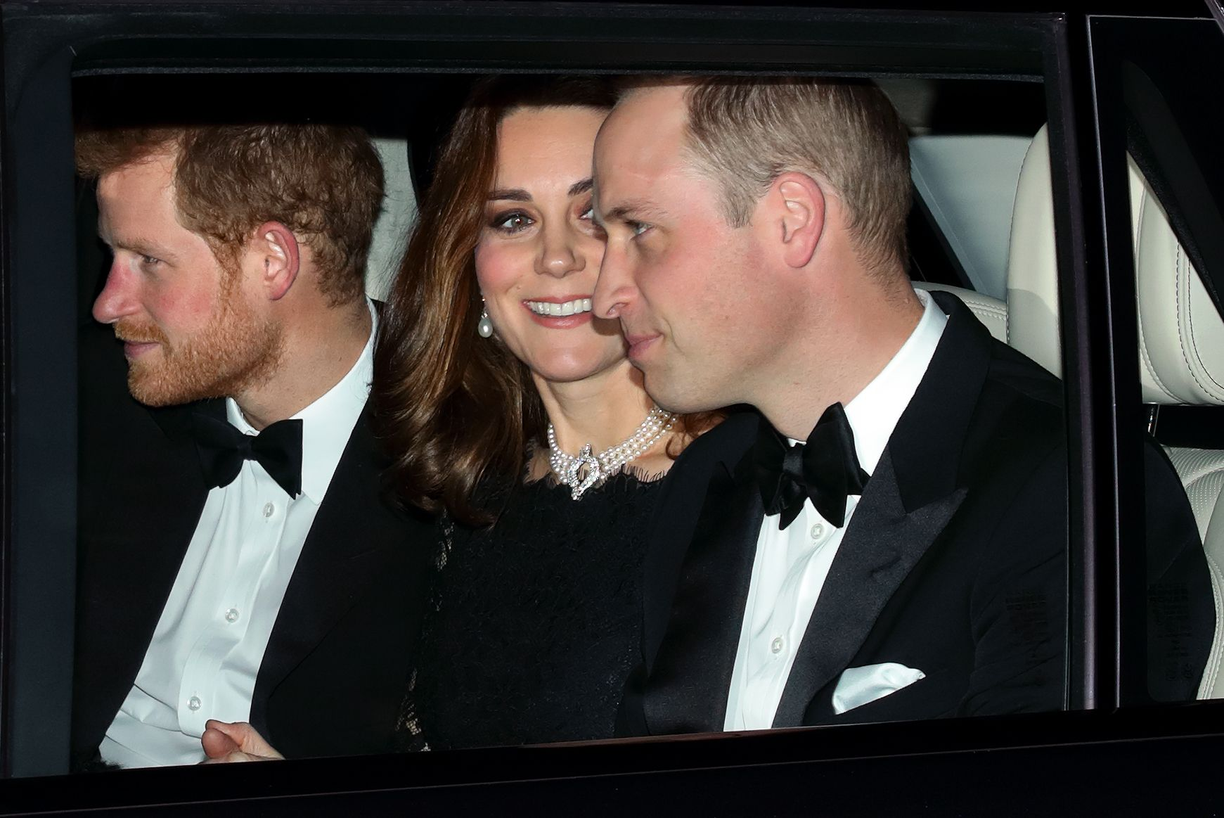 Kate Middleton Borrowed the Queens Pearl Choker For Her Majestys