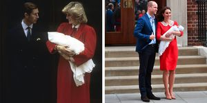 princess diana and kate middleton red maternity dresses lindo wing
