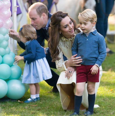 Prince William, Princess Charlotte, Kate Middleton, and Prince George